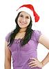 Beatiful girl in Santa Claus hat | Stock Foto