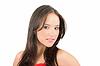 Fresh and Beautiful brunette woman backgrou | Stock Foto