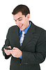 ID 3357618   Business man talking on phone   High resolution stock photo   CLIPARTO