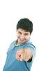 Photo 300 DPI: hispanic businessman pointing towards