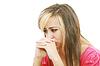 抑郁症的年轻美丽的女人 | 免版税照片