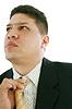 ID 3358262 | Business-Mann Festsetzung seiner Krawatte | Foto mit hoher Auflösung | CLIPARTO