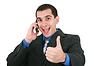 ID 3358264   Handsome Hispanic Businessman Giving Thumbs   High resolution stock photo   CLIPARTO