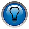 Glossy idea web icon design element. Electricity | Stock Illustration
