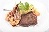 Photo 300 DPI: Steak with Jumbo Shrimp