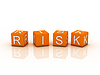 Photo 300 DPI: Risk Blocks, orange color