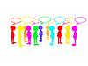 几个人分享他们的意见和表达   光栅插图