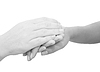 Photo 300 DPI: Hands expressing symbolic sympathies