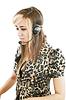 Headshot of beautiful customer service operator woman | Stock Foto