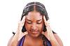 Photo 300 DPI: worried teenage girl with headache