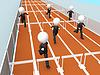 Photo 300 DPI: 3D business men racing