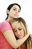 Photo 300 DPI: Sadness woman in friends arms,