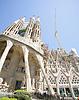 바르셀로나, 스페인 Antoni가 우 디에 의해 사그라 다 파밀리아 | Stock Foto