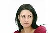 严重的特写美丽的女人 | 免版税照片