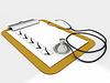 医疗剪贴板清单纸消息 | 光栅插图