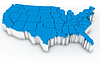 Photo 300 DPI: Map of USA. 3d