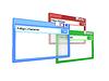 Photo 300 DPI: colorful Internet browser