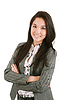 Happy young business woman standing | Stock Foto