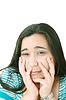 患有抑郁症的年轻漂亮的女人 | 免版税照片