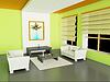 Photo 300 DPI: 3d modern interior of living-room