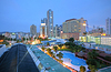 Photo 300 DPI: Panama cityscape with blue pool