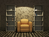 Interior with an old furniture | Stock Illustration