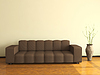 Interior with big sofa | Stock Illustration