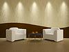 Habitación interior con dos sillas | Ilustración