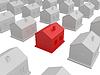 Little red house | Stock Illustration