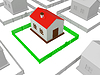 Little house with red roof | Stock Illustration