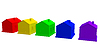 Colored houses | Stock Illustration
