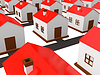 Many small houses | Stock Illustration
