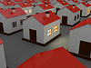 Houses in dark | Stock Illustration