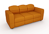 Photo 300 DPI: orange sofa