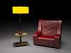 红色扶手椅 | 光栅插图