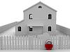 Big red lock | Stock Illustration