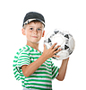 ID 3371718 | 男孩抱着足球 | 高分辨率照片 | CLIPARTO