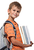 Boy holding textbooks | Stock Foto