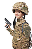 Young soldier with gun | Stock Foto