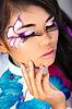 美丽的亚洲女子时尚彩妆 | 免版税照片