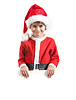 Boy holding christmas poster | Stock Foto
