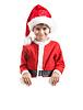男孩举行圣诞海报 | 免版税照片