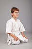 ID 3374993 | Karate boy in white kimono is sitting | High resolution stock photo | CLIPARTO