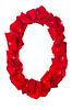 Foto 300 DPI: Letter O der roten Blütenblätter Rose gemacht