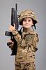 ID 3377566   年轻的男孩穿着像士兵用步枪   高分辨率照片   CLIPARTO