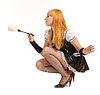 Beautiful caucasian woman dressed in French Maid | Stock Foto