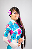 Beautiful asian woman wears national dress | Stock Foto