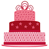 Vector clipart: pink cake