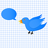 Vector clipart: Twitter blue bird icon