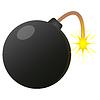 Black Bomb burning icon